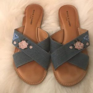 Rock and candy sandals worn twice